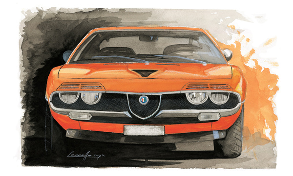 Muscle Car Painting By Michele Leonello Carartspot