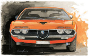 Michele Leonello Muscle Car Painting