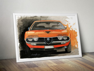 Muscle car painting by Michele Leonello