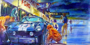 Automotive Car Art Cobra Daytona Pit by Automotive Artist Andrew McGeachy