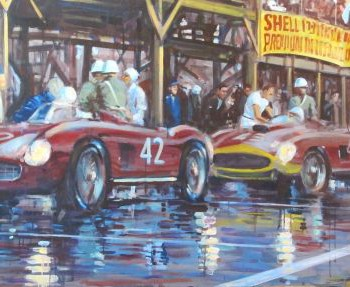 Cuba Pitscene by Automotive Artist Andrew McGeachy
