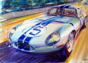 E Type Lightweight by Automotive Artist Andrew McGeachy