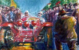 Flying Start 1934 Mille Miglia by Andrew McGeachy