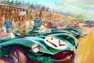 Le Mans Dtype by Automotive Artist Andrew McGeachy
