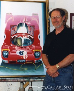 Charles Maher Car Paintings