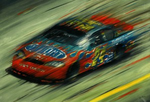 Jeff Gordon Nascar Race by Andrea Del Pesco