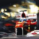 Fernando Alonsoi in Ferrari F10 by Andrea Del Pesco