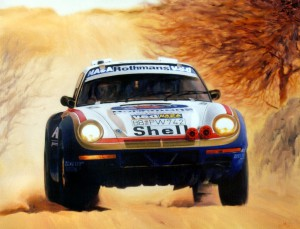 Porsche 959 Parigi Dakar by Automotive Artist Andrea Del Pesco