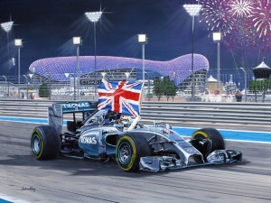 'Hammertime' Lewis Hamilton World Champion 2014 in Abu Dhabi by Andrew Kitson