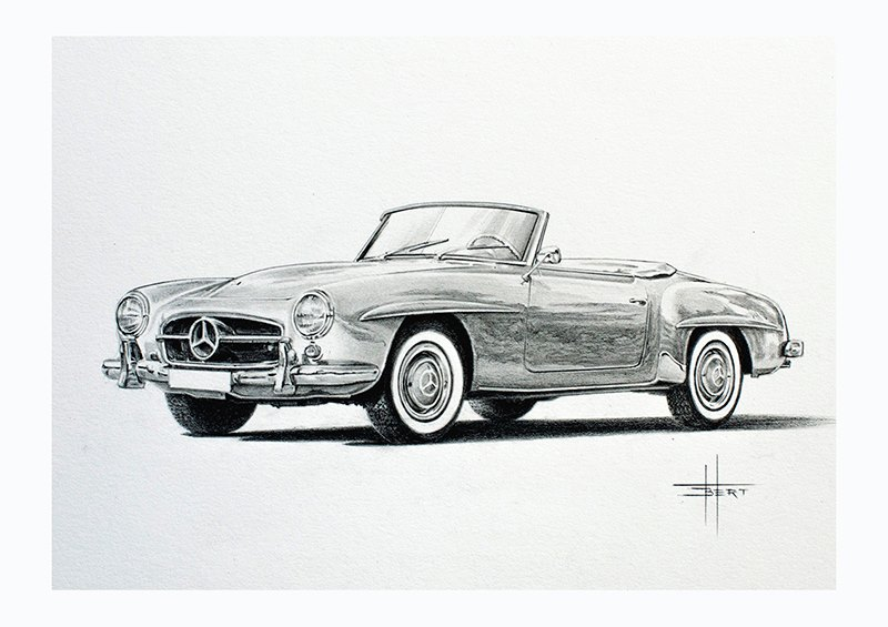 Mercedes Drawing