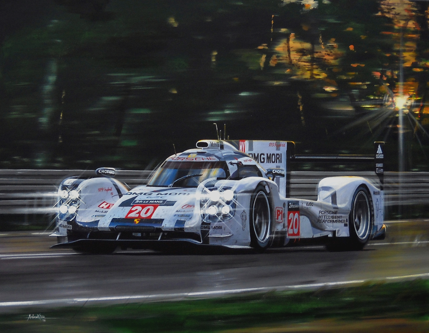 Beautiful Mark Webber In Porsche 919 At Le Mans 2014