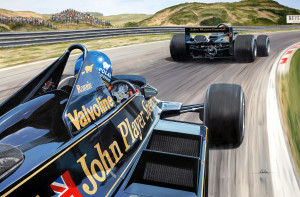 'Wingman' Ronnie Peterson follows Mario Andretti at Zandvoort, a Lotus 1-2 for the beautiful Lotus 79 in the Dutch GP in 1978