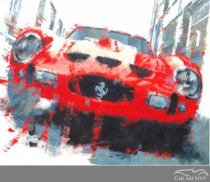 Ferrari GTO Automotive Art by Juan Carlos Ferrigno