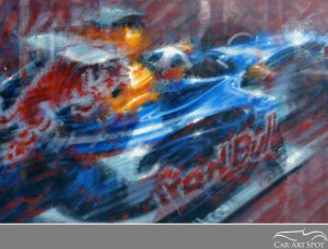 Red Bull Automotive Art by Juan Carlos Ferrigno