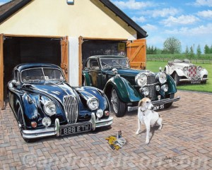 Classic Cars by Automotive Artist Andrew Kitson
