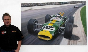 'The Greatest Victory' Andrew Kitson with his Jim Clark Indy 500 painting