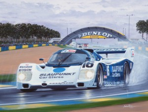 Zak Brown in his Porsche 962 Le Mans Legends Group C Race by Andrew Kitson