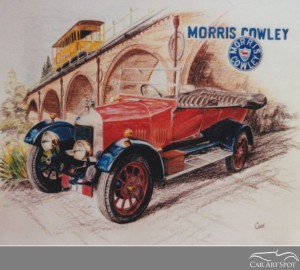 Morris Cowlet commissioned car art by David Coax