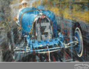 Bugatti Automotive Art by Juan Carlos Ferrigno