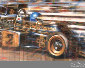 Ronnie Peterson Lotus Automotive Art by Juan Carlos Ferrigno