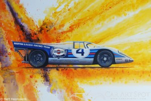 Porsche automotive art by Bert Heemskerk