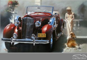 Automotive Car Art by Don Packwood