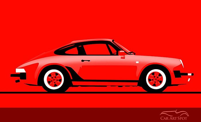 Porsche 911 Turbo by Niels van Roij Automotive Artist and Designer