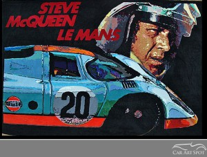 Porsche 917 Steve McQueen tapestry by Keith Collins