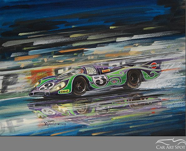 "Porsche 917 painting ""Hippie"" by David Purvis"