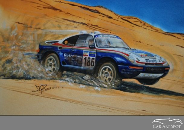 David Purvis Automotive Porsche Art