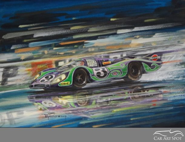 David Purvis Porsche Art