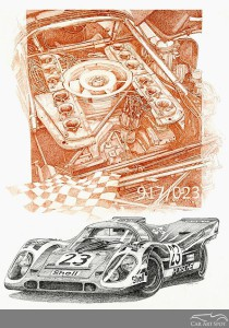 Porsche Art by Patrick Brunet