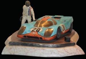 Porsche 917 sculpture by Esteban Serrasio