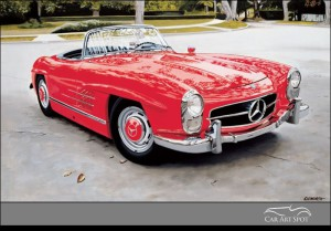 300 SL ROADSTER by Harold Cleworth