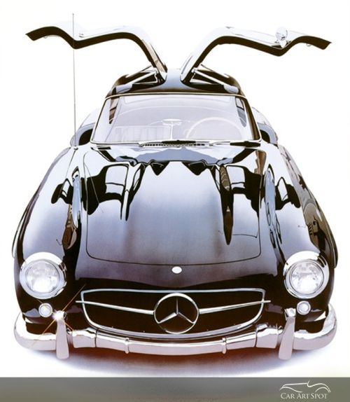 Mercedes Gullwing by Harold Cleworth