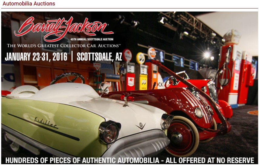 Barrett Jackson Auction Scottsdale in Arizona on 23-31 January 2016