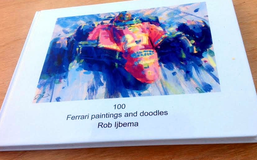 100 Ferrari Paintings by Rob Ijbema