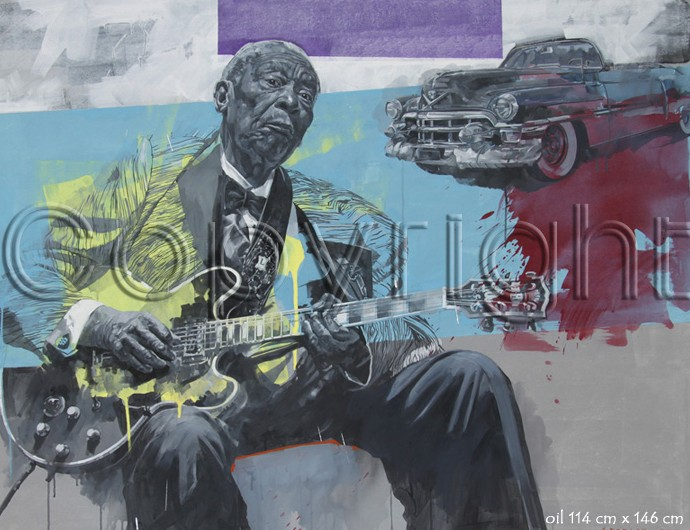 Cadillac Blues by Automotive Artist Stanley Rose