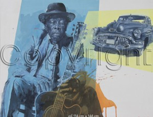 Roadmaster Blues by Automotive Artist Stanley Rose