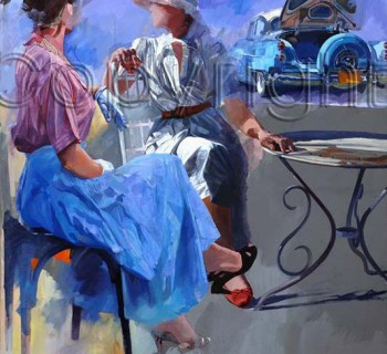 Picnic by Automotive Artist Stanley Rose