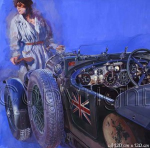 Blower Bentley by Automotive Artist Stanley Rose