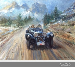 Alphine Conquest by Automotive Artist Alan Fearnley