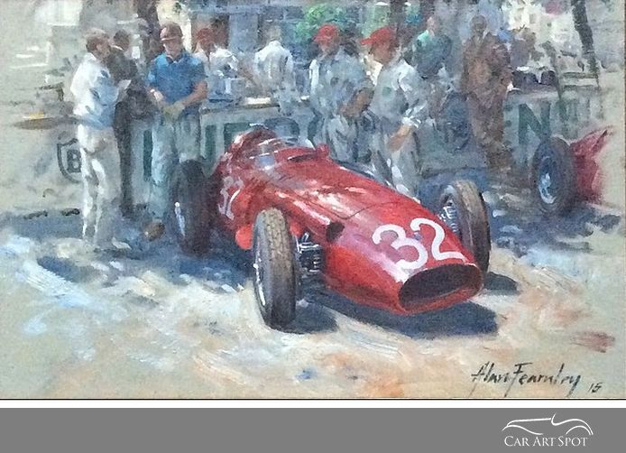 Monaco Pits 1957 by Alan Fearnley