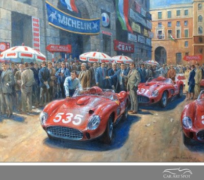 Mille Miglia by Alan Fearnley