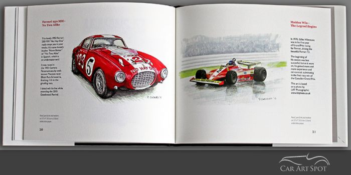 Ferrari In Art by Paul Chenard