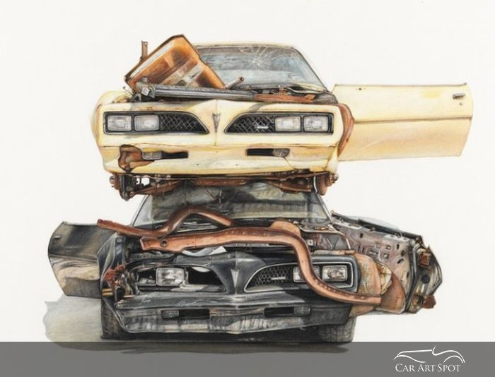 Paul White Automotive Art