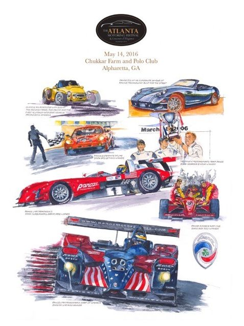 Mike Zeller Automotive Artist at The Atlanta Motoring Festival 2016