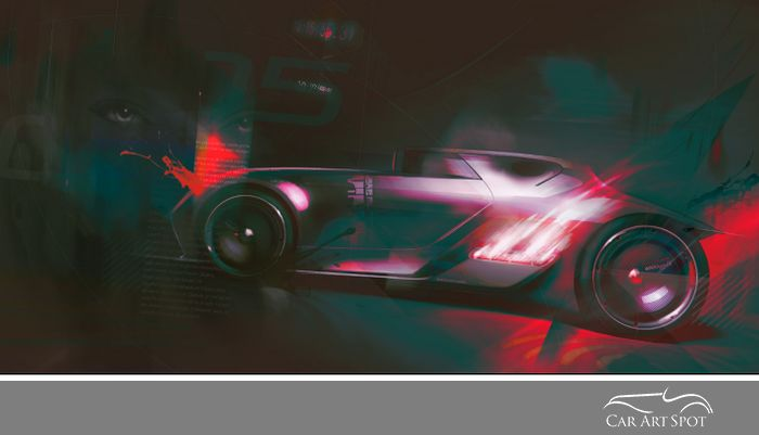 Hot Rod by Automotive Artist & Designer Olivier Gamiette