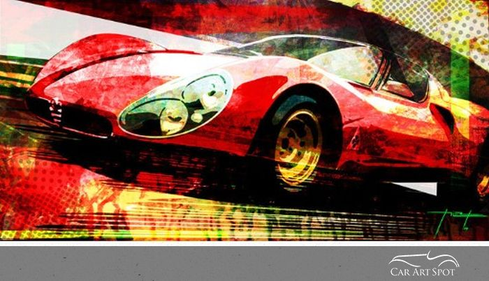 Alfa Romeo 33 Stradale Artwork by César Pieri