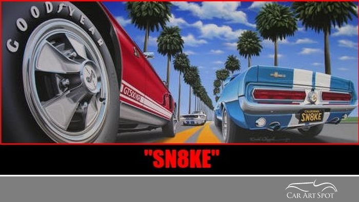 Sn8ke by automotive artist David Chapple